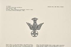 La guadaña, de la serie: Relectura de la Biblia, 1988 collage, Bomba atómica de Hiroshima,  Cristo y ángel con guadañas, Biblia Grüniger, 1485. Ediçoes Exú