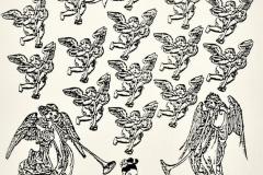 La trompetas, Ap 8, 1986, collage, Ediçoes Exú