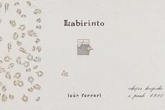 Labirinto y Xadrex, 1980, libros de artista Letraset y tinta, Ediciones Licopodio.