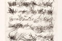 Seis poemas, 1977, V/VIII, libro de artista, punta seca, pag.4