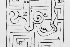 Laberinto/ Laberinto I, 1980, xerografía, 32,9 x 21,2 cm.