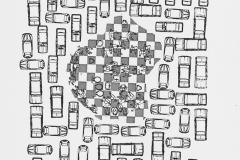 Carros 3, 1981, 4/500, xerografía, 32 x 21,5 cm.