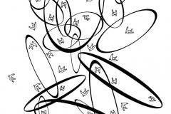 Licopodio 2, de la serie Hombres, 1980, xerografía, 33 x 21 cm.