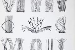 """""""Mensagem/ Mensaje"""", del libro """"Imagens"""", de la serie """"Códigos"""", 1979  Pluma y tinta china sobre papel  31,2 x 21,4 cm  Colección Familia Ferrari"""