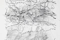 Sin título, 5/10/1977  Tinta sobre papel  32,9 x 23,9 cm  Colección Familia Ferrari