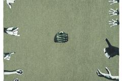"""""""Dios"""", 1964  Caja con collage sobre papel  48 x 31,5 cm  Colección Familia Ferrari"""