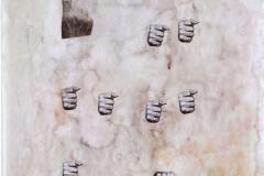 """""""Dios"""", 16/6/1964  Collage y acuarela sobre papel  42,5 x 32, 5 cm  Colección Familia Ferrari"""