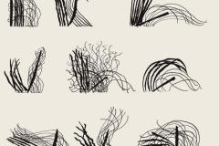 Kama-sutra II, del libro Imagens, de la serie Códigos, 1979  Pluma y tinta china sobre papel  32,5 x 21,5 cm  Colección Familia Ferrari