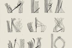 Kama-sutra I, del libro Imagens, de la serie Códigos, 1979  Pluma y tinta china sobre papel  31,2 x 20,3 cm  Colección Familia Ferrari