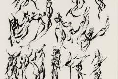Sin título, 10/12/1976  Tinta sobre papel  34 x 23,6 cm  Colección Familia Ferrari